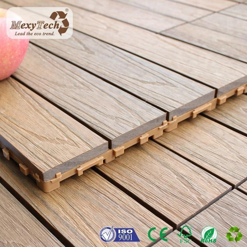 Outdoor balcony wpc floor tiles cheap price interlocking deck tiles