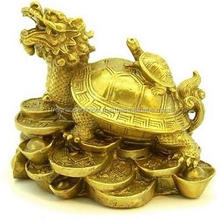 Feng Shui Dragon Tortoise With Child/Vastu Art Vastu / Dragon Tortoise With Child