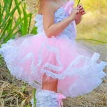 Cheap Baby Girls Mini Princess Lace Tutu Skirts Dress