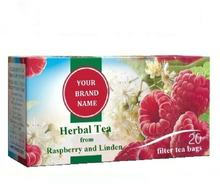 Herbal Tea From Raspberry and Linden Only In Private Label | Wholesale | White Label