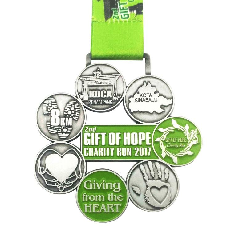 Custom 3D Design Cheap Miraculous Blank Race 5K Finisher Award Military Marathon Gold Running Metal Sports Medals