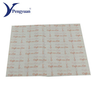 Customized printing greaseproof baking deli paper roll