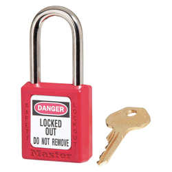 D1944 Lockout Padlock KD Red 1/4In Shackle Dia 0002