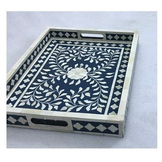 Bone Inlay Decorative Tray