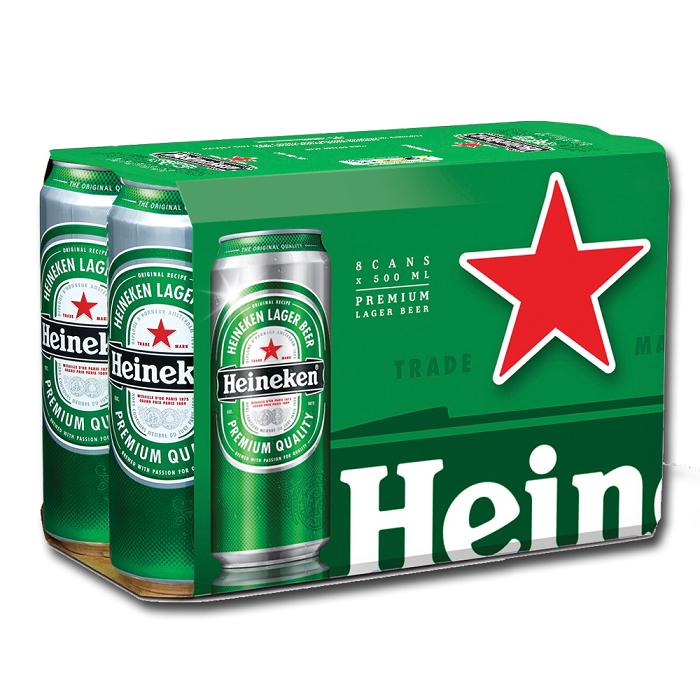 Heineken 250ml/330ML Beer in Cans and Bottle