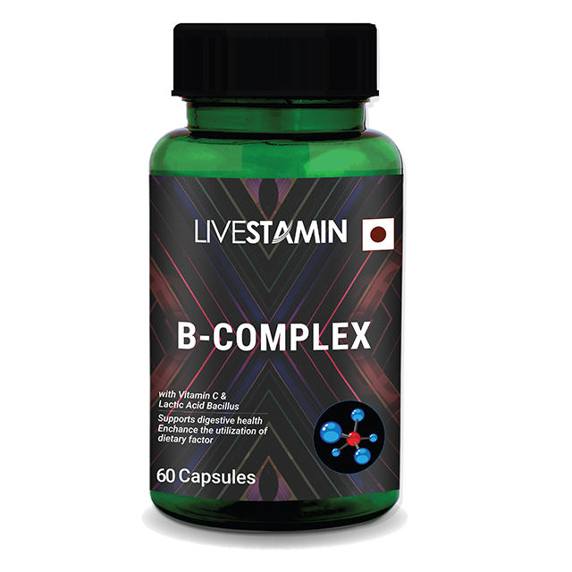 B-Complex With Methylcobalamin B 12 With Lactic Acid Bacillus & Vitamin C For Nervous System Supplement Private Label GMP-ISO