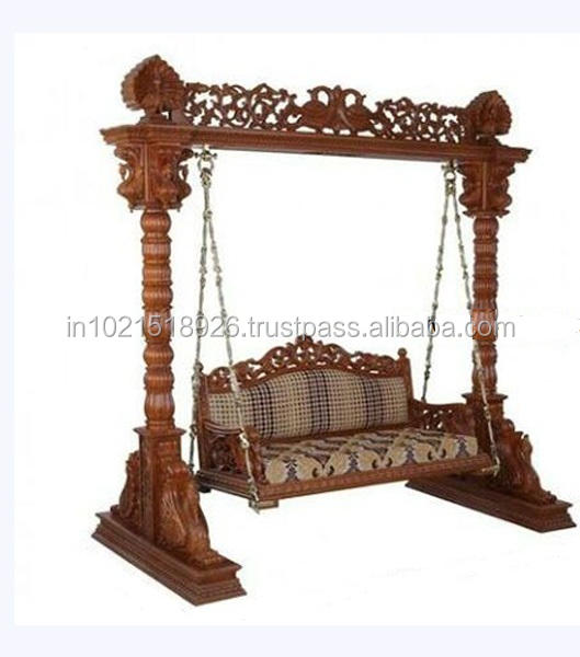 Indian Wedding Wooden Carved Jhula/WeddingGolden Swing