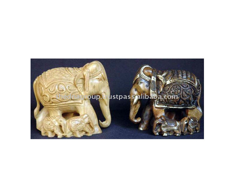 Decorative Animal Crafts/ Wood Carving Elephant-1