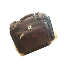 Trolley travel bags with wheels / suitcases and travel bags / stylish brand name leather travel duffel bags
