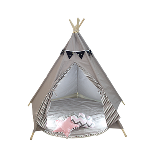 Cotton Canvas Indoor Outdoor Teepee Indian Tents Play House for Kids