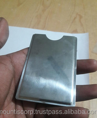 Stainless steel business/ATM/credit card holder