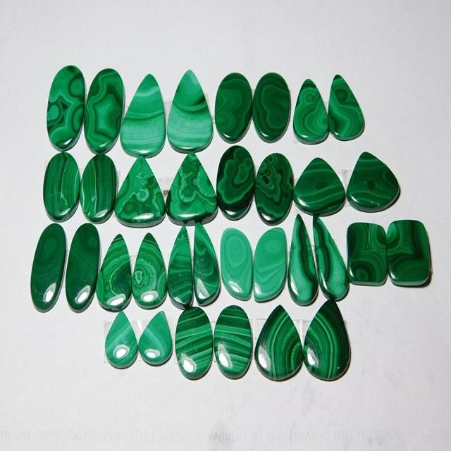 Hit Green malachite stone Mix Shape Loose Gemstone Cabochon