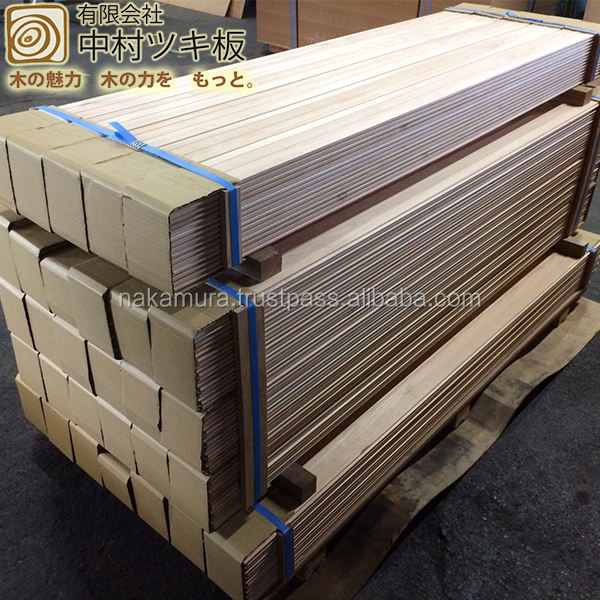 Premium and Beautiful hinoki solid wood flooring with end matched tongue and groove made in Japan