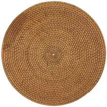 Ceramic rattan charger late round placemat wholesale cheap price vietnam