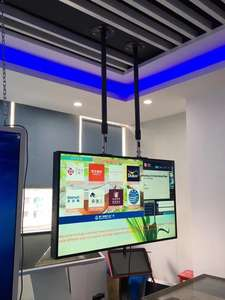 Android   windows advertising player multi screen digital signage shop window hanging lcd monitor