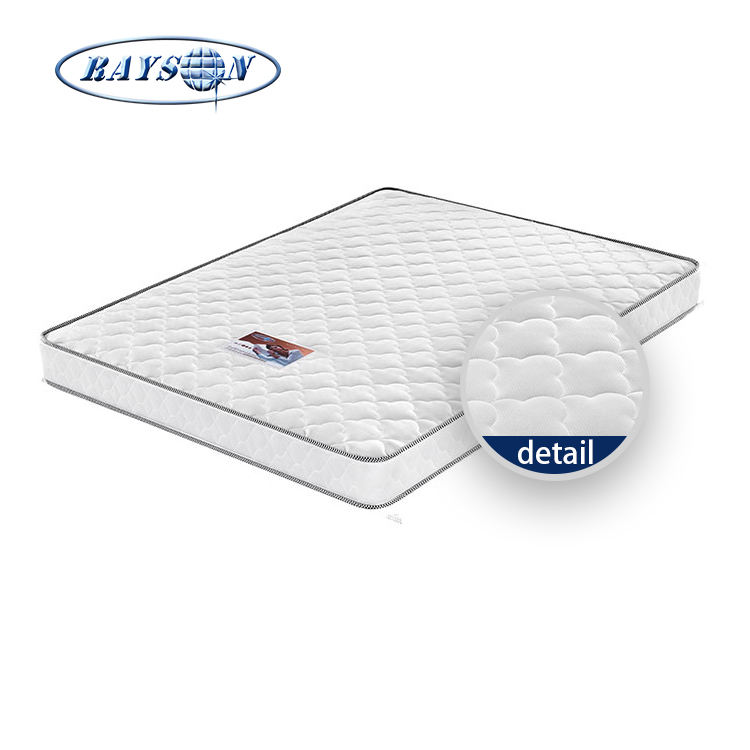 white colour cheap spring mattress for hotel rollable brocade deluxe bonnell coil spring mattress
