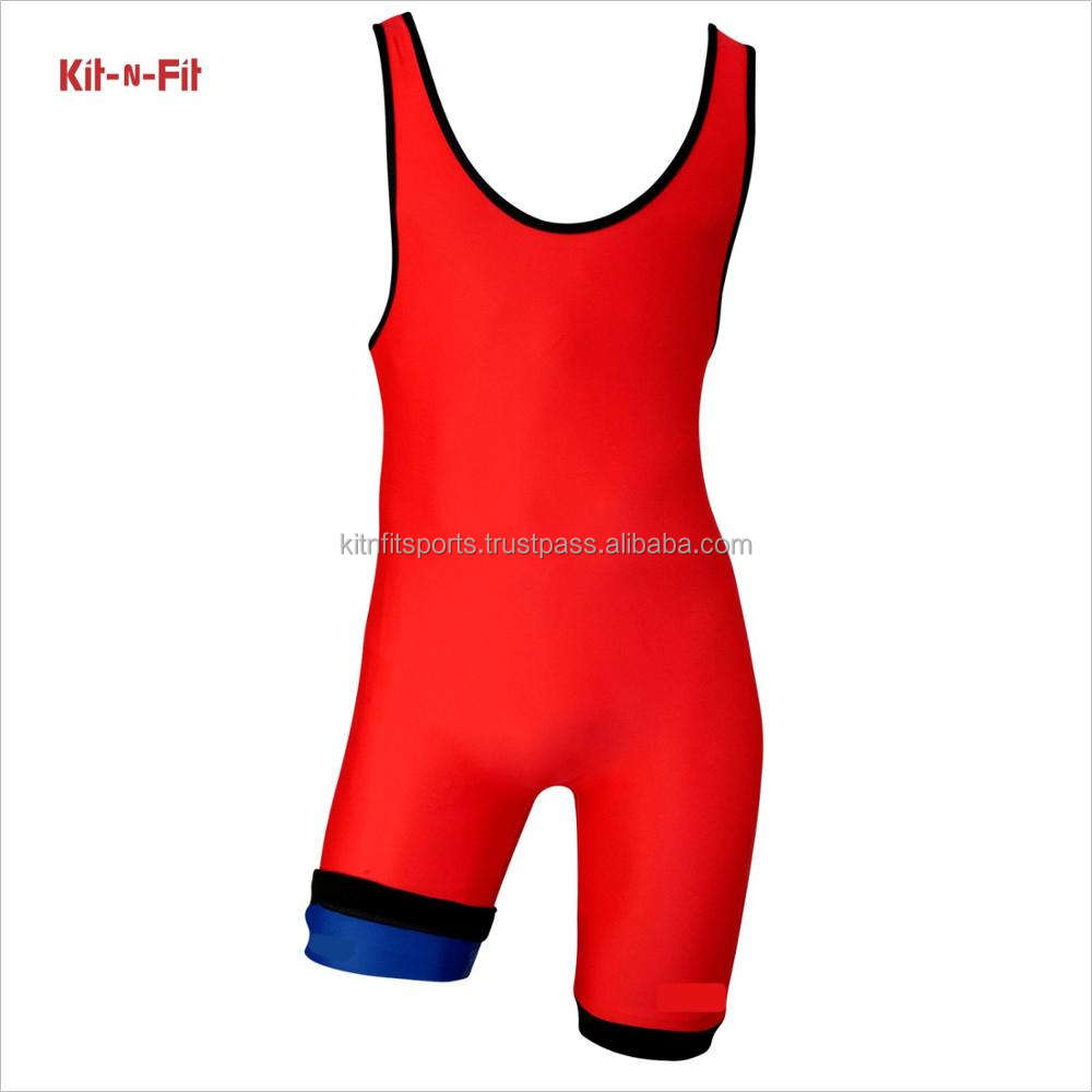 Women Wrestling Singlet Red For Unisex