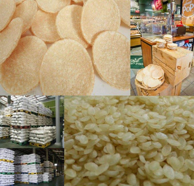 Corea pellets de trigo, de arroz artificial, grano de pellets