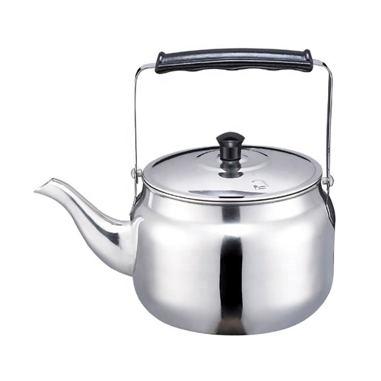 Hot sale cheap price simple design 0.5 / 0.75 / 1.0 / 1.5 / 2.0L stainless steel teapot set