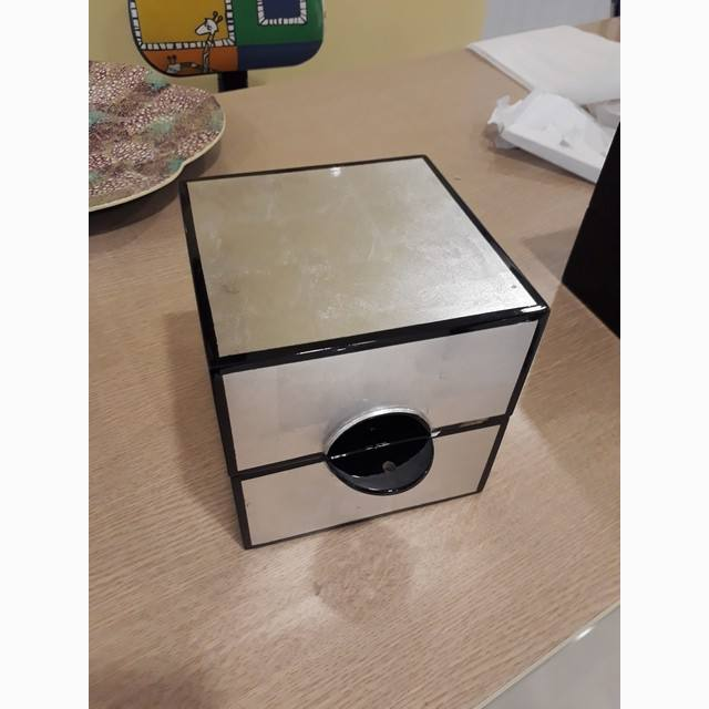 Silver painted square lacquer box, new arrival of gift box