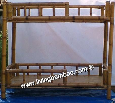 DOUBLE BAMBOO BED - INDOOR BAMBOO FURNITURE