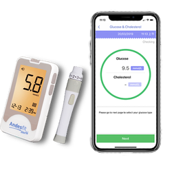 API/SDK  CE Bluetooth/Wireless Blood Glucose Meter/Monitor for telemedicine