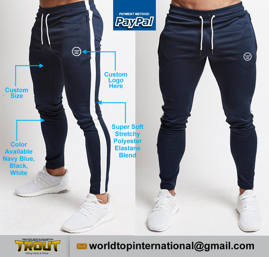Pro Bodybuilding Soft Stretchy Polyester/Elastane Blend Jogger / Gym Customized Training Pant / Unisex Fitness Casual Bottom