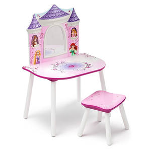 bedroom furniture Wooden Children dressing table with Mirror   Stool