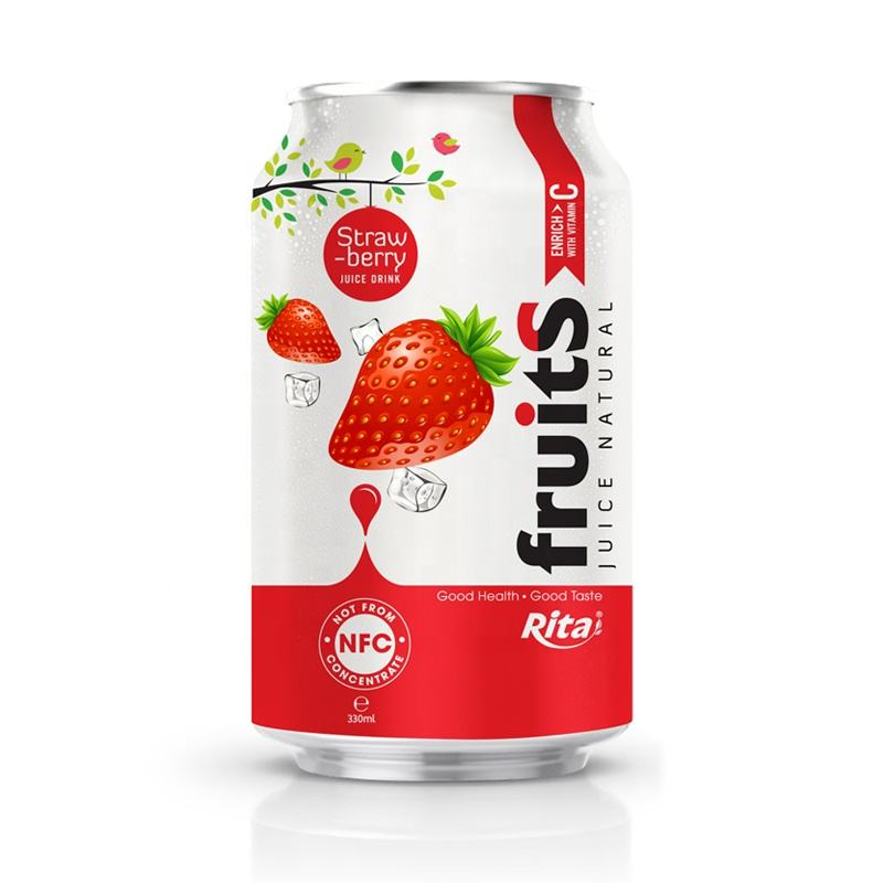 OEM Vietnam 330ml Alu Fresh Strawberry Fruit Juice Drinks
