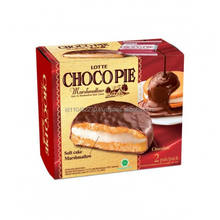 Lotte Choco Pie Chocolate Coated Marshmallow Sandwich Cake