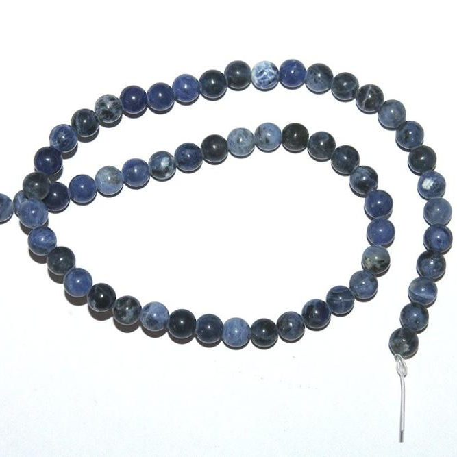 "Wholesale Natural Sodalite 8mm Plain Round Loose Gemstone Beads Length 15""Inch beads for jewelry making"