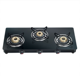 New design glass black 3 burner Gas stove