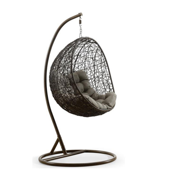 Best Selling Outdoor Swing Rattan Hanging Wicker Egg Chair, Cheap Patio Swings