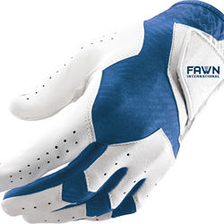 Synthetic Cabretta Leather Golf Gloves for Men, Right Handed Golfing (Worn on Left Hand)