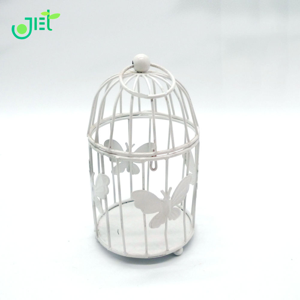 Iron wire Birdcage Planter Holder