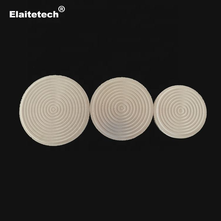 Infrared plain honeycomb ceramic cordierite combustion plate/plaque with edge for gas burner and stoves