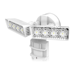SANSI Led With Water Proof Security Light Dual-Head Motion-Activated Led Motion Sensor Activated Wall Light