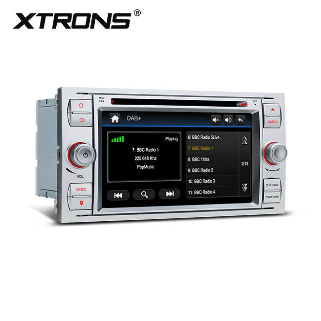 "XTRONS 7 ""Touchscreen Eingebauter DAB Navigator Auto <span class=keywords><strong>DVD</strong></span>-Player für Ford Transit/Fiesta/Connect mit Video eingang"