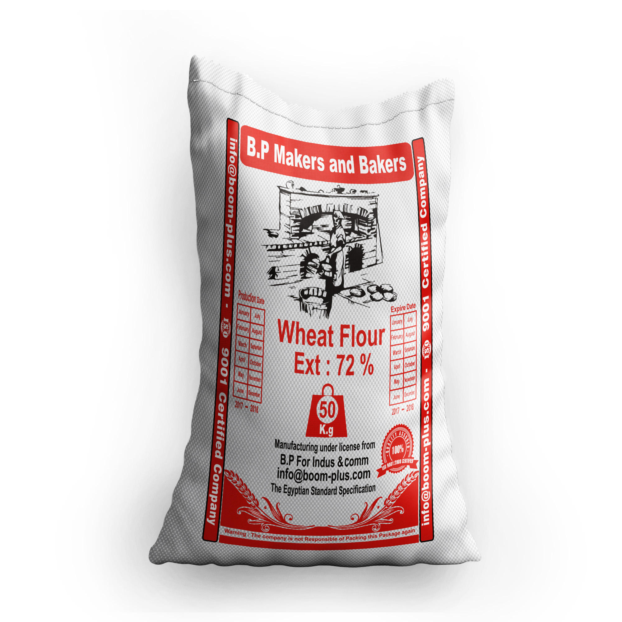 Egyptian wheat flour/ high quality/low price/50 kg bag