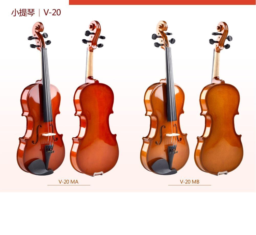 Custom Make 4/4 Good Quality Beginner Violin with Case