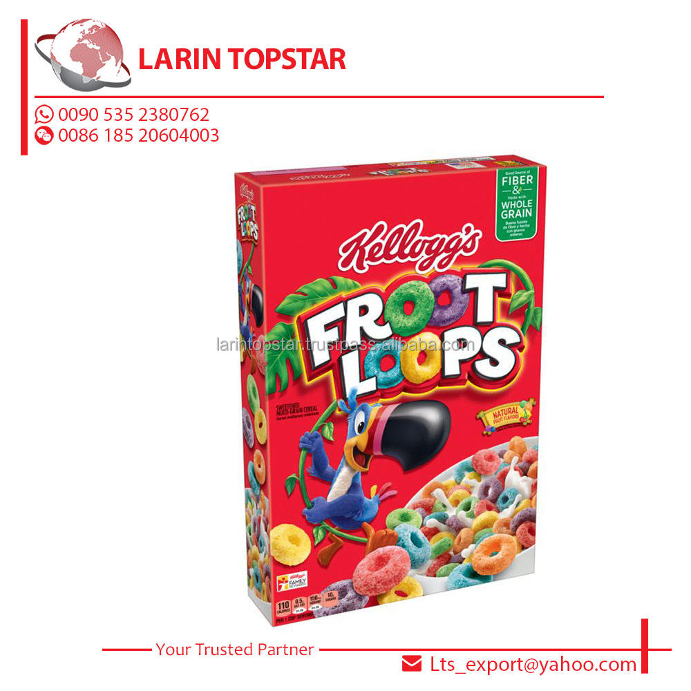 Kelloggs froot loops 375g(Breakfast Cereals,Baby cereals) frosted flakes