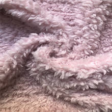 One side knitted solid sherpa fleece fabric for garment home textile