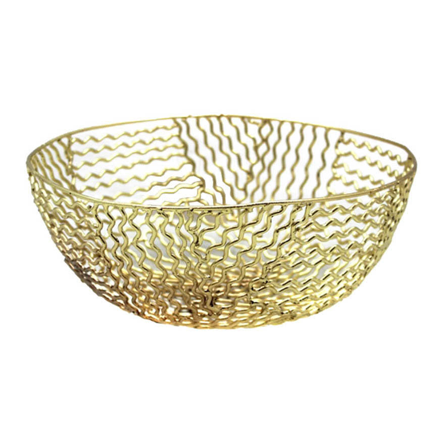 Brass Plated Iron Metal Storage Baskets