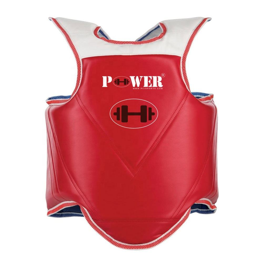 Power Check Impex Double Sided Design Fight Sports Heavy Hitter Boxing Muay Thai MMA Training Chest Shield Guard Body Protector