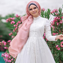 MUSLIMA WEAR PURE COTTON EMBROIDERY DRESS LILY ISLAMIC CLOTHING