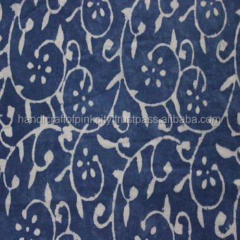 Indian Voile cotton-Indigo Batik fabric, textiles and fabrics 3 yard