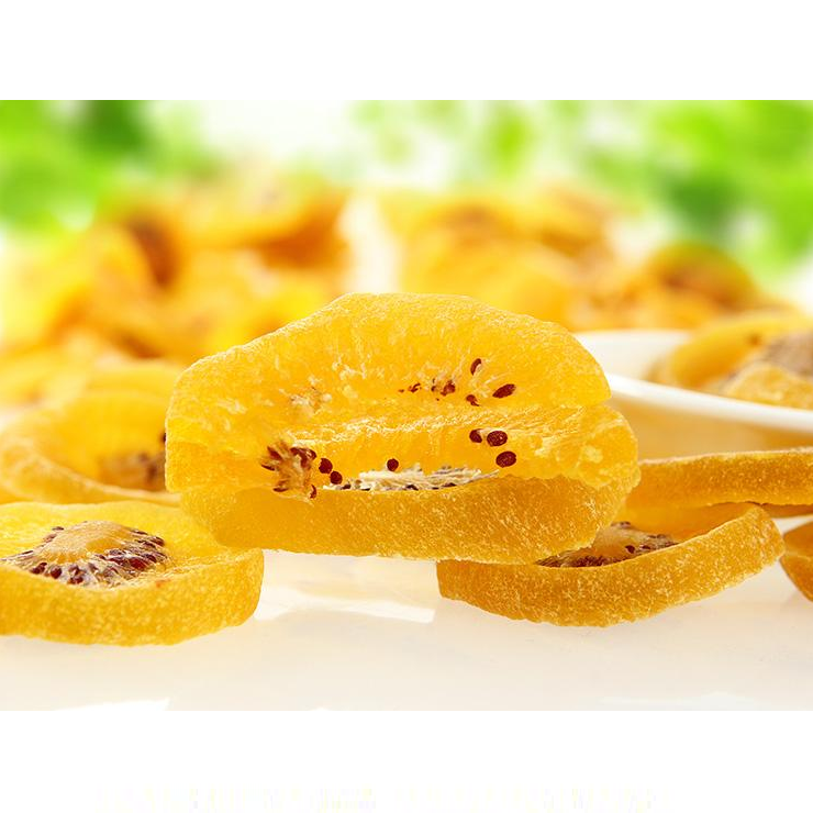 Popular snacks Dehydrated kiwi Dry Kiwifruits dried yellow kiwi slices