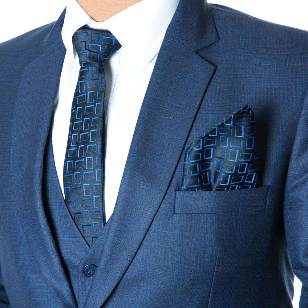 Top Quality Silk Fabric Men's Tie and Free Pocket Square