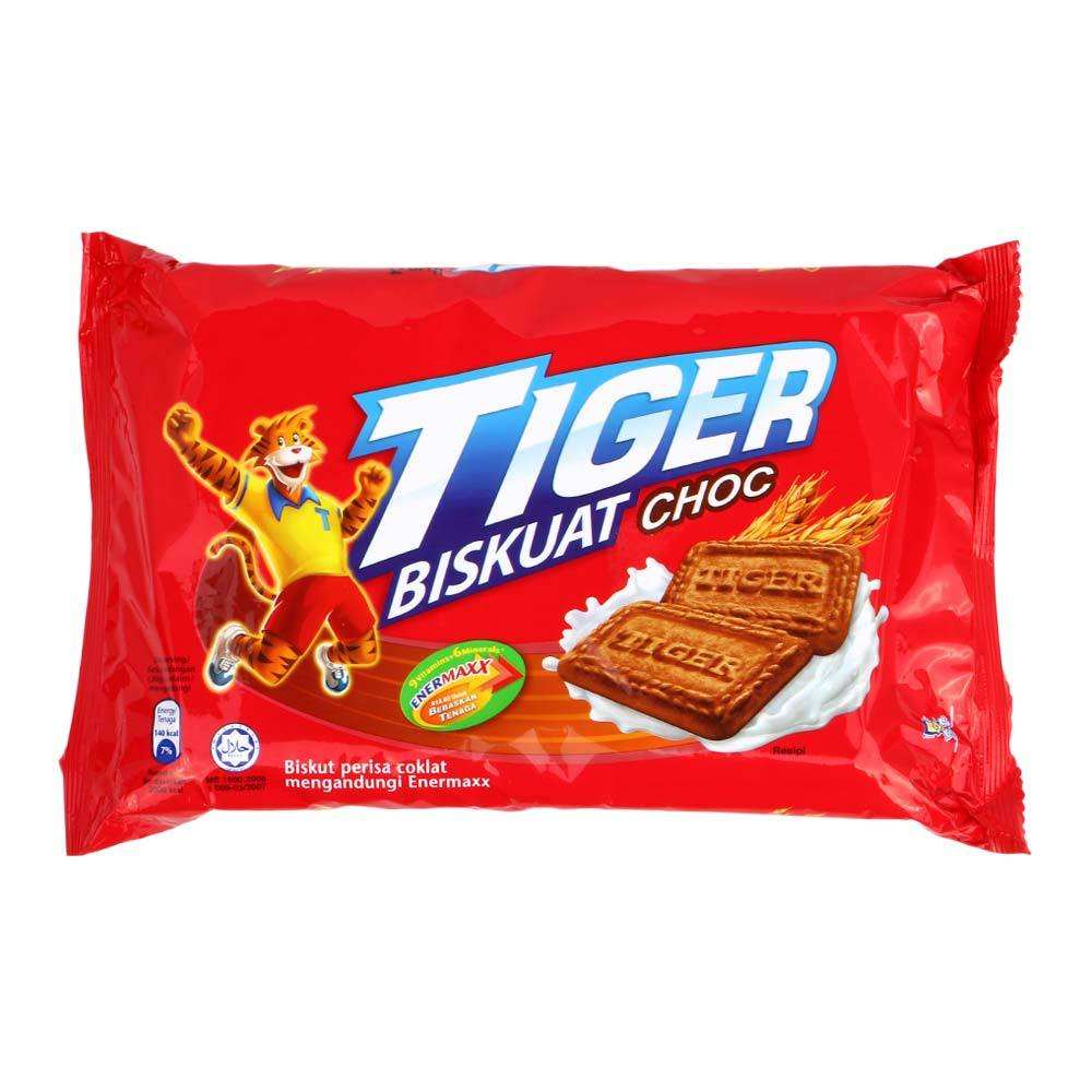 Tiger Sweet Biscuit Malaysia with Milk, Chocolate, and Banana Chocolate flavour