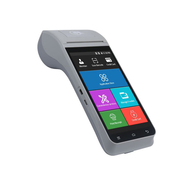 Best sales POS Hardware/software All in One multi-function 1D&2D Barcode Point Of Sale Machine Z91 with printer